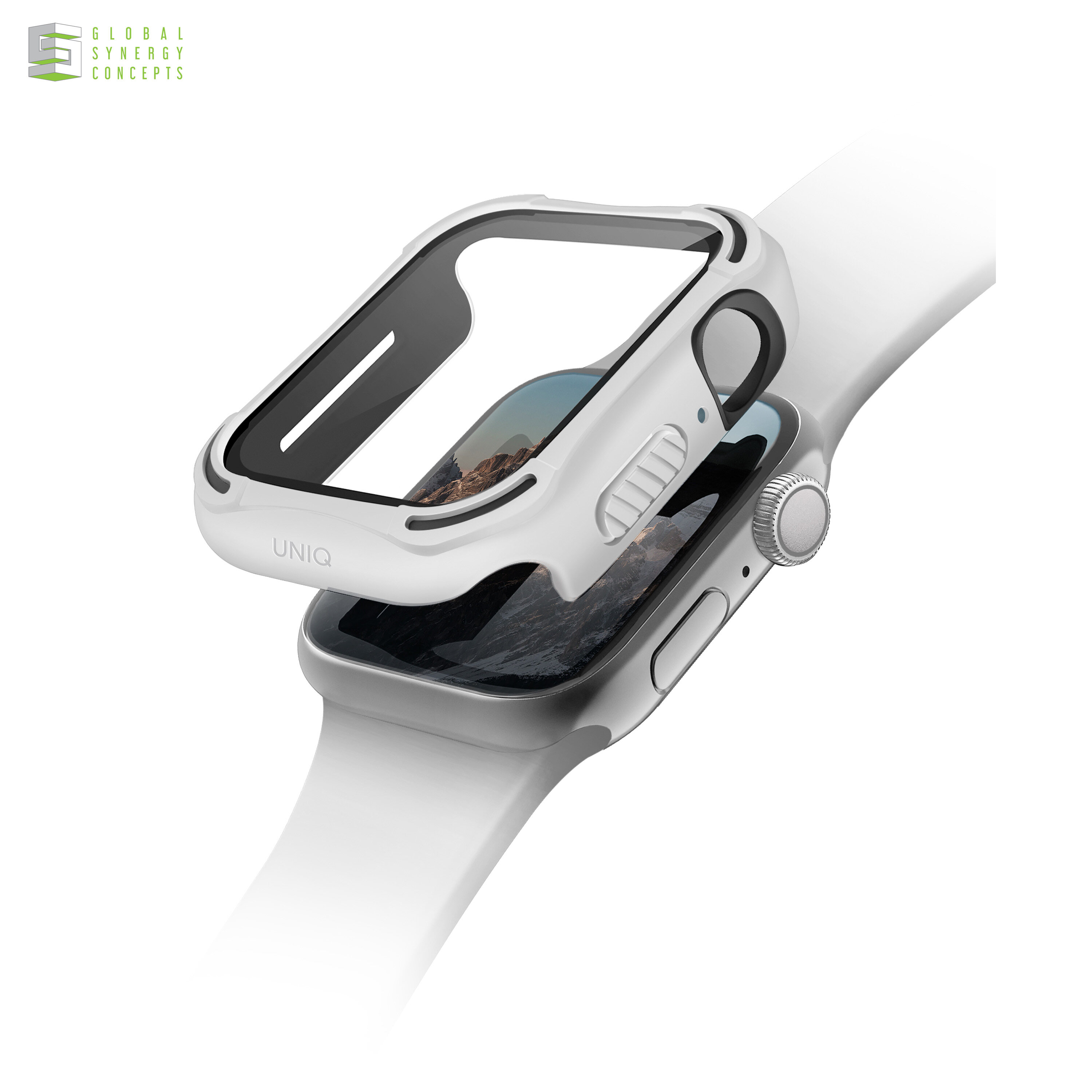 Uniq Torres Apple Watch Case with Tempered Glass 40/44mm White Black Blue