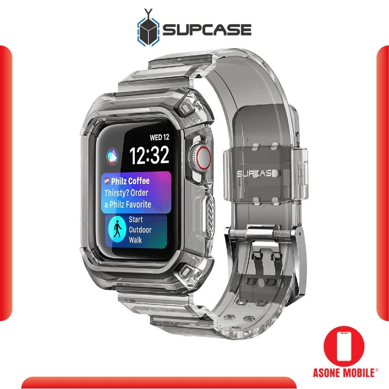 Original SUPCASE UB PRO Apple Watch Series 4 / 5 / 6 / SE Wristband Case (44mm) - Frost Black Clear