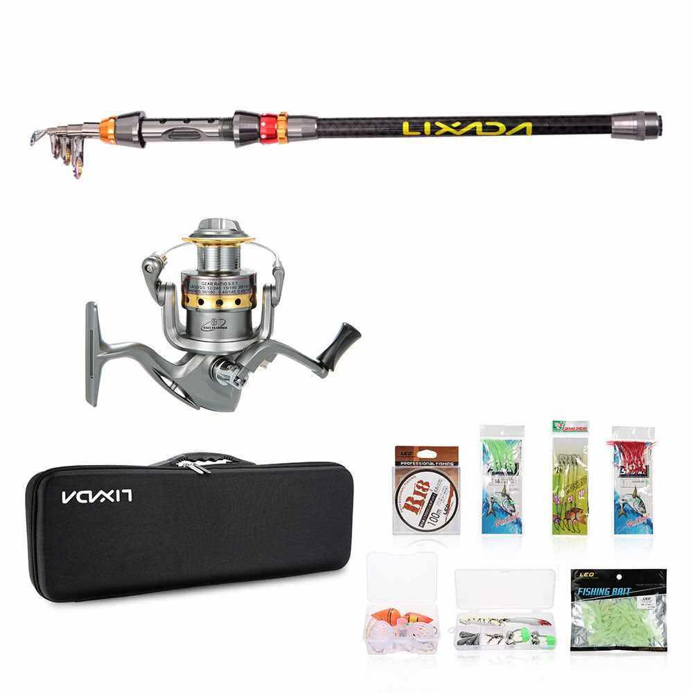 Lixada Telescopic Fishing Rod and Reel Combo Full Kit