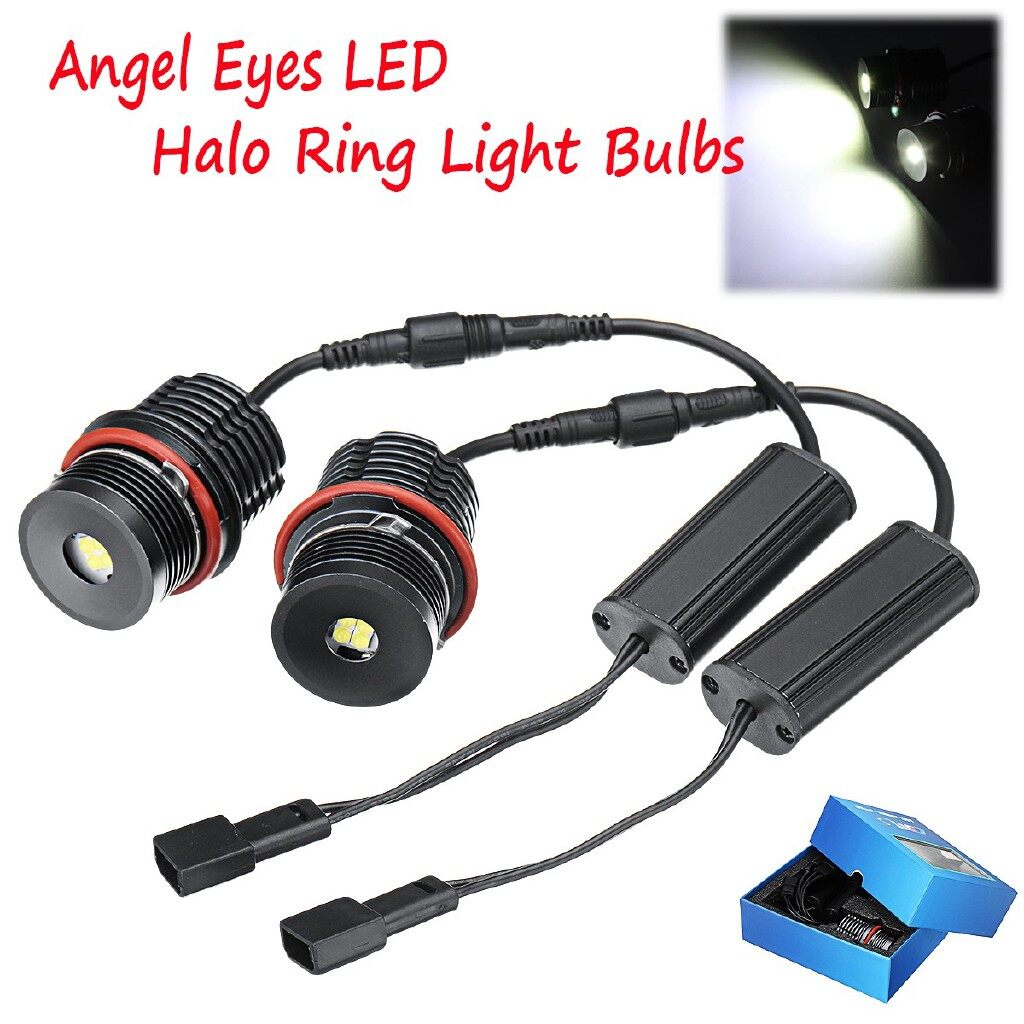 Car Lights - 80W An Eyes Error Free LED Halo Ring Light Bulbs For BMW E63 E60 E53 E39 - Replacement Parts