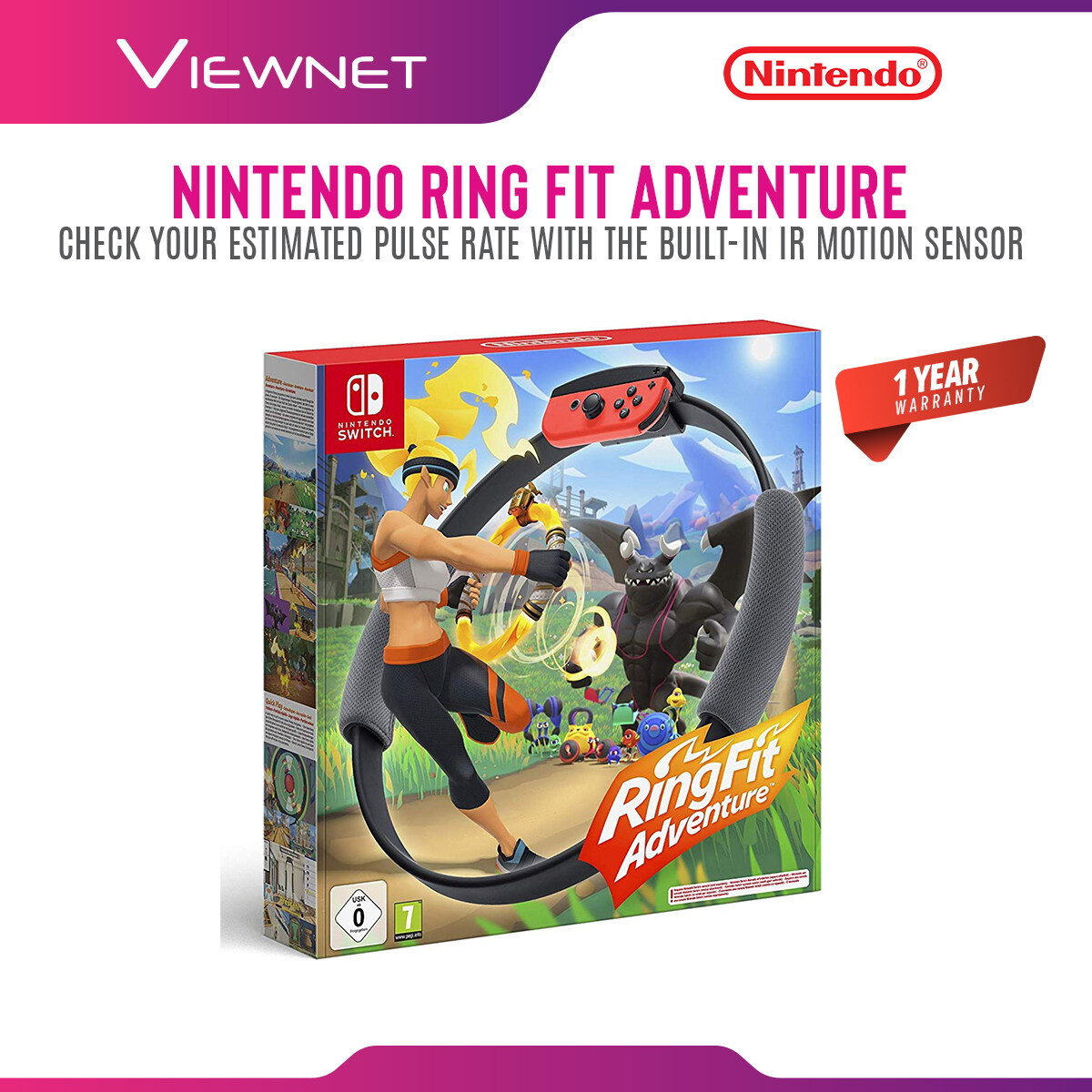 Nintendo Switch Ring Fit Ringfit Adventure - Full set with GAME (English + Chinese Version)