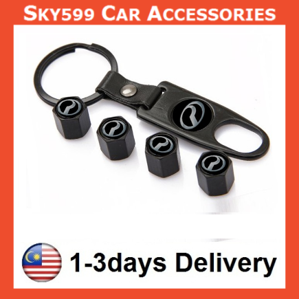 Styling Perodua Car Wheel Tire Tyre Valve Stem Air Caps Car Cover 4PcsSet