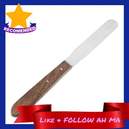 Best Selling 1Pc Plaster Mixing Spatula Dental Stainless Steel Instrument Wooden Handle (Standard)