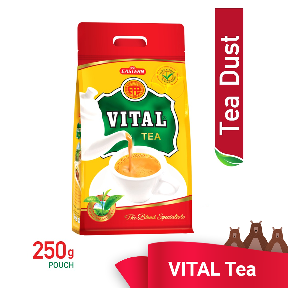 Vital Tea Pouch 250g - TEA DUST READY STOCK KL - AFFORDABLE - HALAL - ECONOMY PACK -FAST SHIPPING