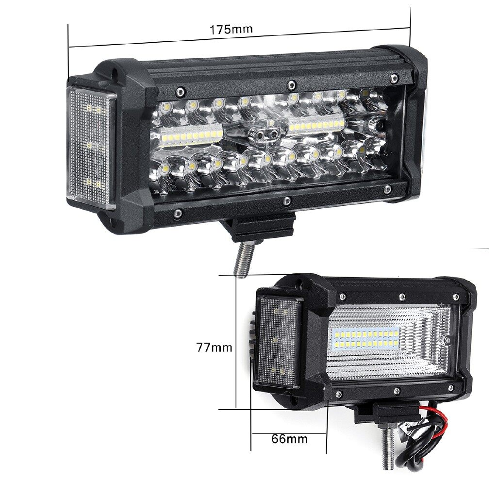 Car Lights - 6.5Inch 56LED Work Light Bar Offroad Combo Driving Lamp 56W Car Truck Boat 4WD - Replacement Parts