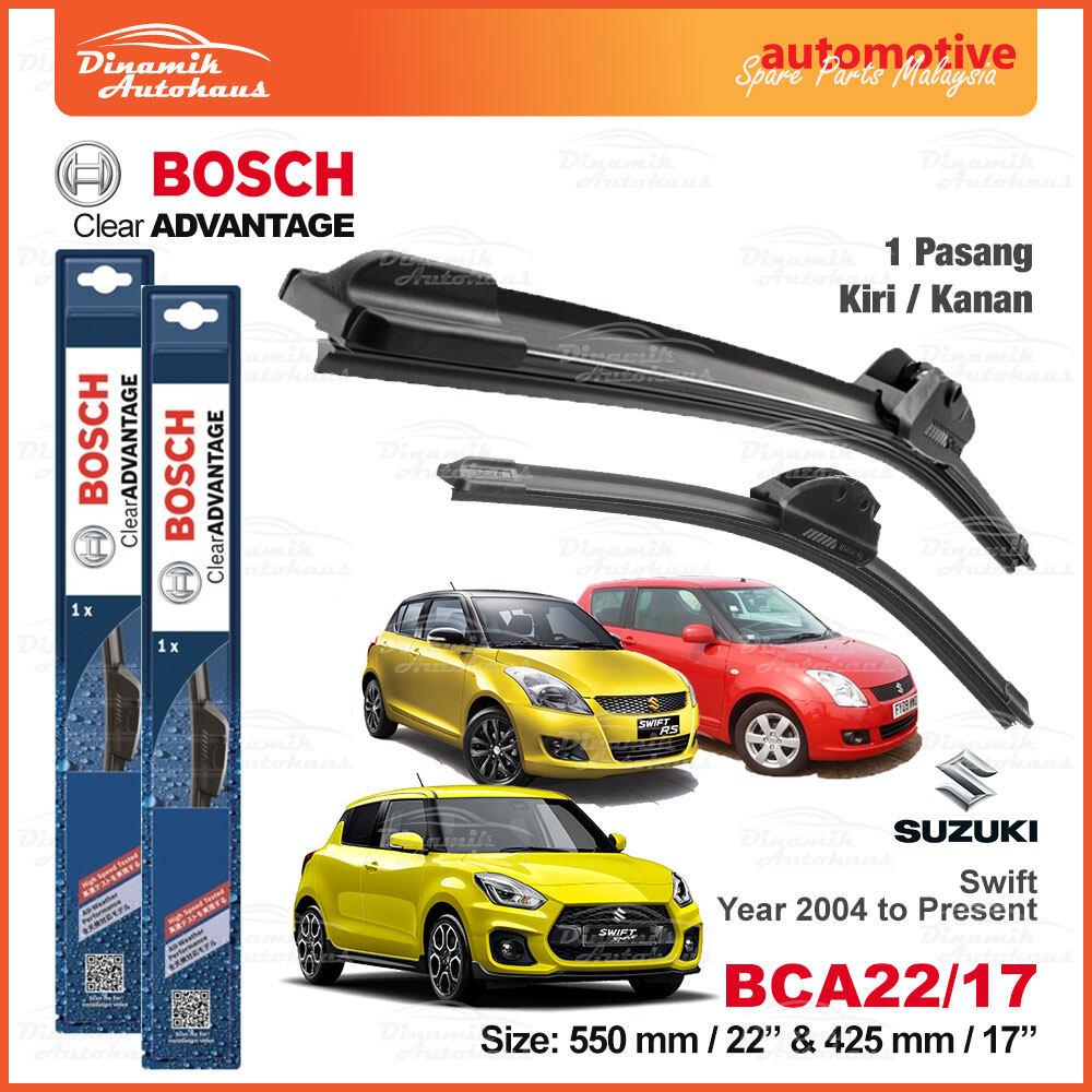 """Suzuki Swift Year 2004 To Present Car Front Windshield Soft Wiper Blades 22"""" / 17"""" - Bosch Clear Advantage Wiper BCA2217"""