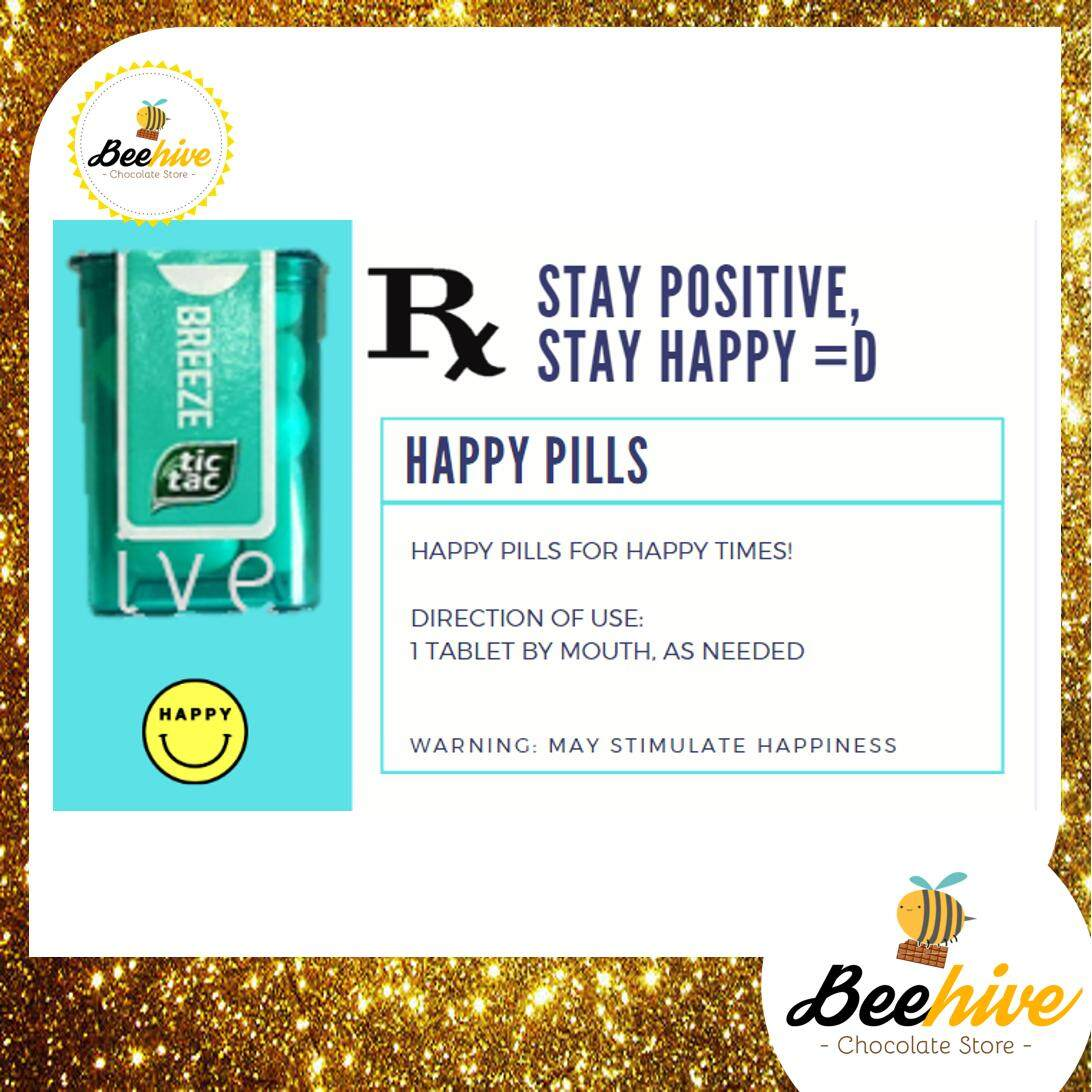 Beehive Spearmint / Mint Tic Tac Mini Happy Pills Surprise Gift *Free Note Writing*