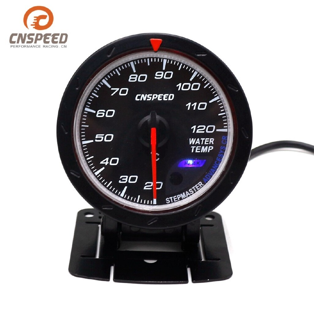 Moto Accessories - 2.5\'\' 60mm White+Red LED Stepper Motor Water Temp Temperature Gauge Meter Sensor - Motorcycles, Parts