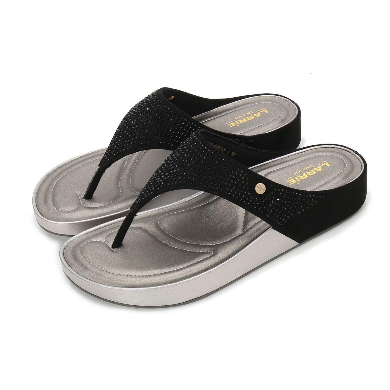 LARRIE Kasut Perempuan Glossy Enjoyable Fashion Sandals Women - L91906-CV01SV