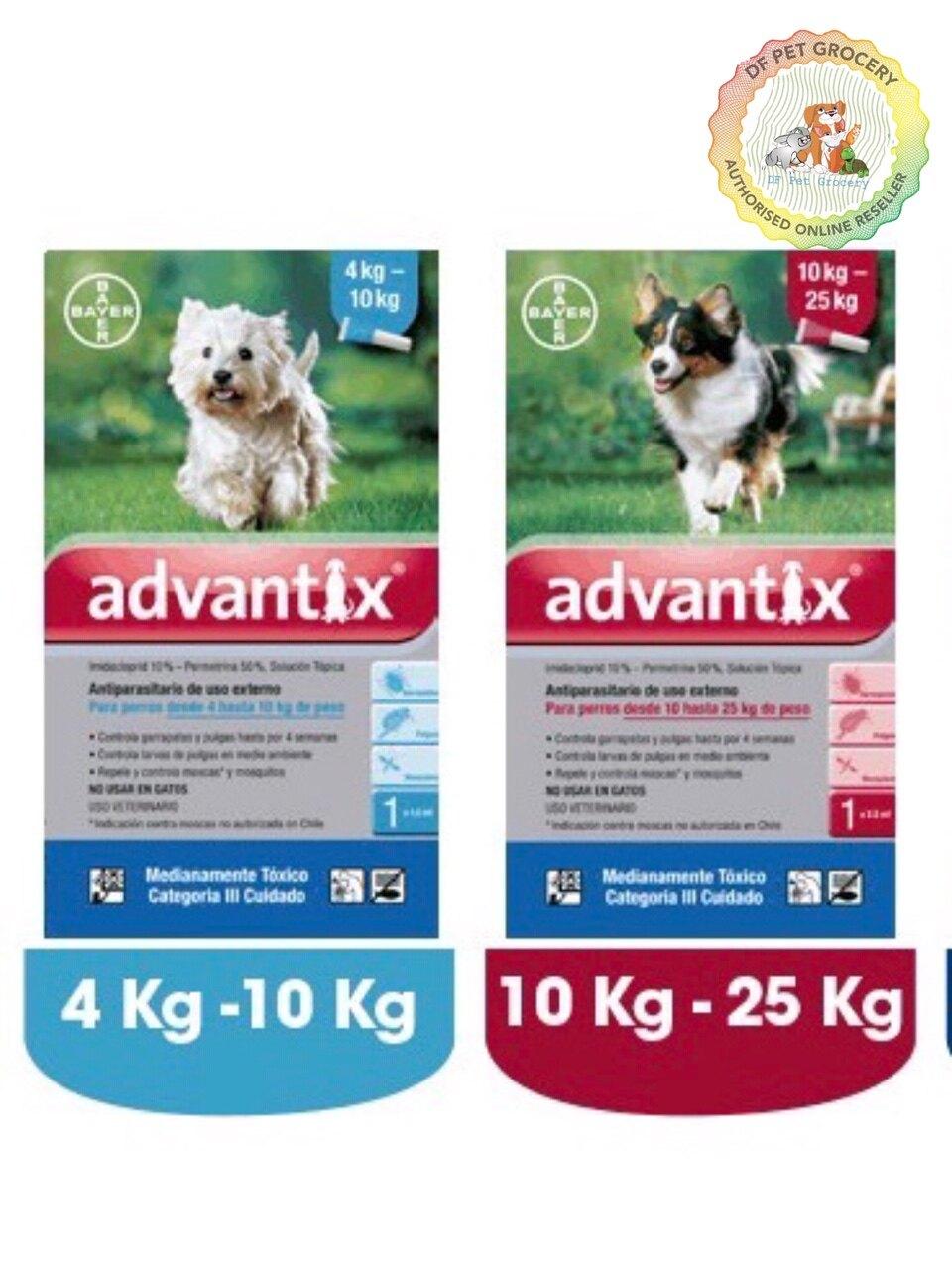 Bayer Advantix for Dog Tick Control 4 Pipet in Box