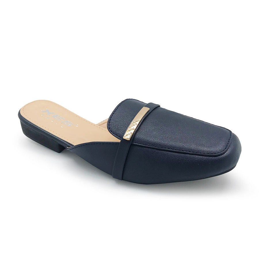 XES Ladies BSLCES06 Slip-on Flats (Burgundy Navy Blue)