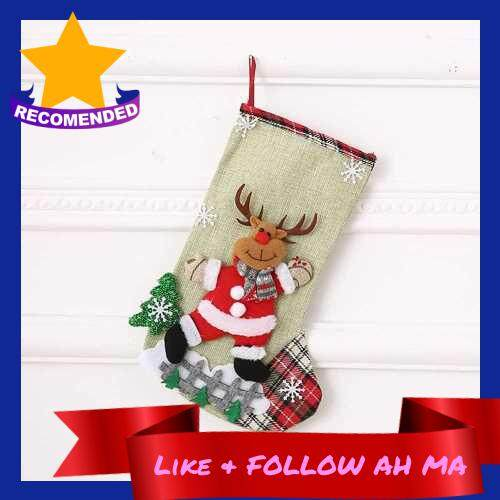 Best Selling 1PC Hanging Christmas Stocking Santa Snowman Reindeer Christmas Tree Fireplace Pendant Decoration Candy Bag Gifts Holiday Festive Xmas Ornament (Alh227315414)
