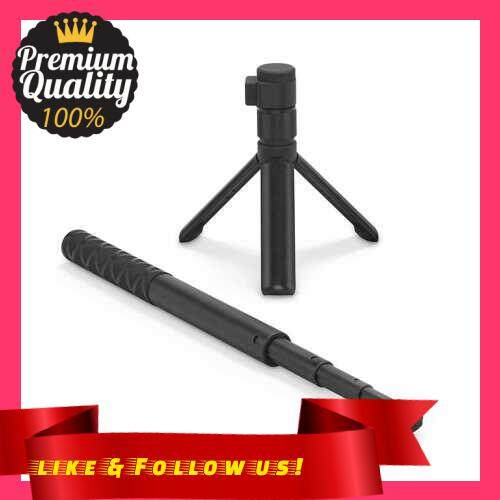 People\'s Choice Photography Bullet Time Bundle Extension Rod Invisible Selfie Pole Folded Tripod Handle 28cm-111cm Adjustable Length Bullet Time Shooting Kit Compatible with Insta360 ONE X / ONE R Series Camera (Standard)
