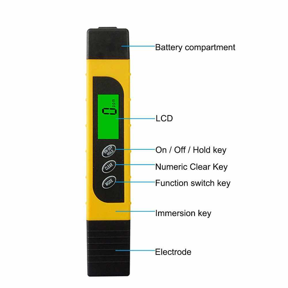 Water Quality Tester 3 in 1 Multifunction TDS Pen Tester High Precision Digital LCD TDS Meter, EC Meter & Temperature Meter, Ideal for Drinking Water, Aquariums, etc. (Green)