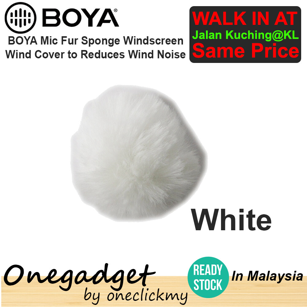 [READY STOCK] BOYA Mic Fur Sponge Windscreen Wind Cover To Reduce Wind Noise