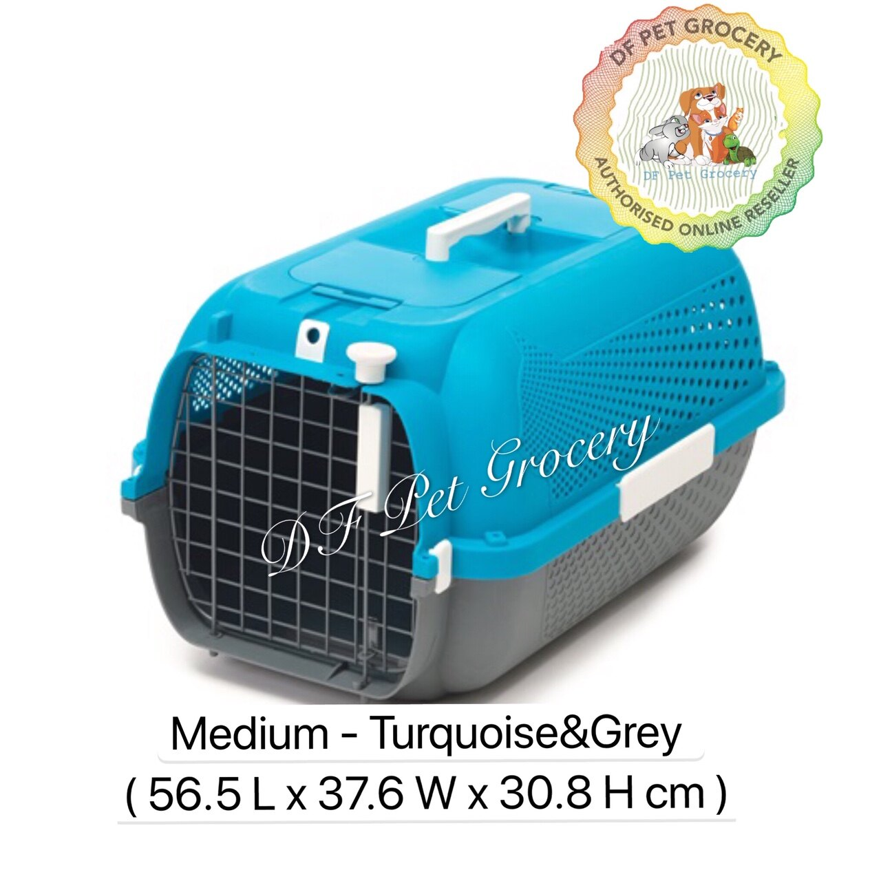 Hagen Catit Pet Voyageur Turquoise/Grey Medium - Cat Carrier  Dog Carrier  Dogit  Catit  41384 Pet Carrier