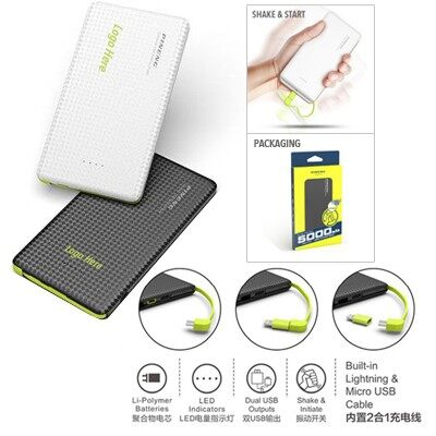 Original PINENG PN-952 5000mAh Lithium Polymer Power Bank - Black rating