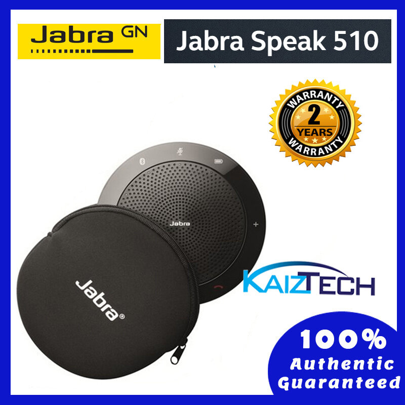 [Ready Stock] Jabra Speak 510 MS Portable USB and Wireless Bluetooth Conference Speakerphone