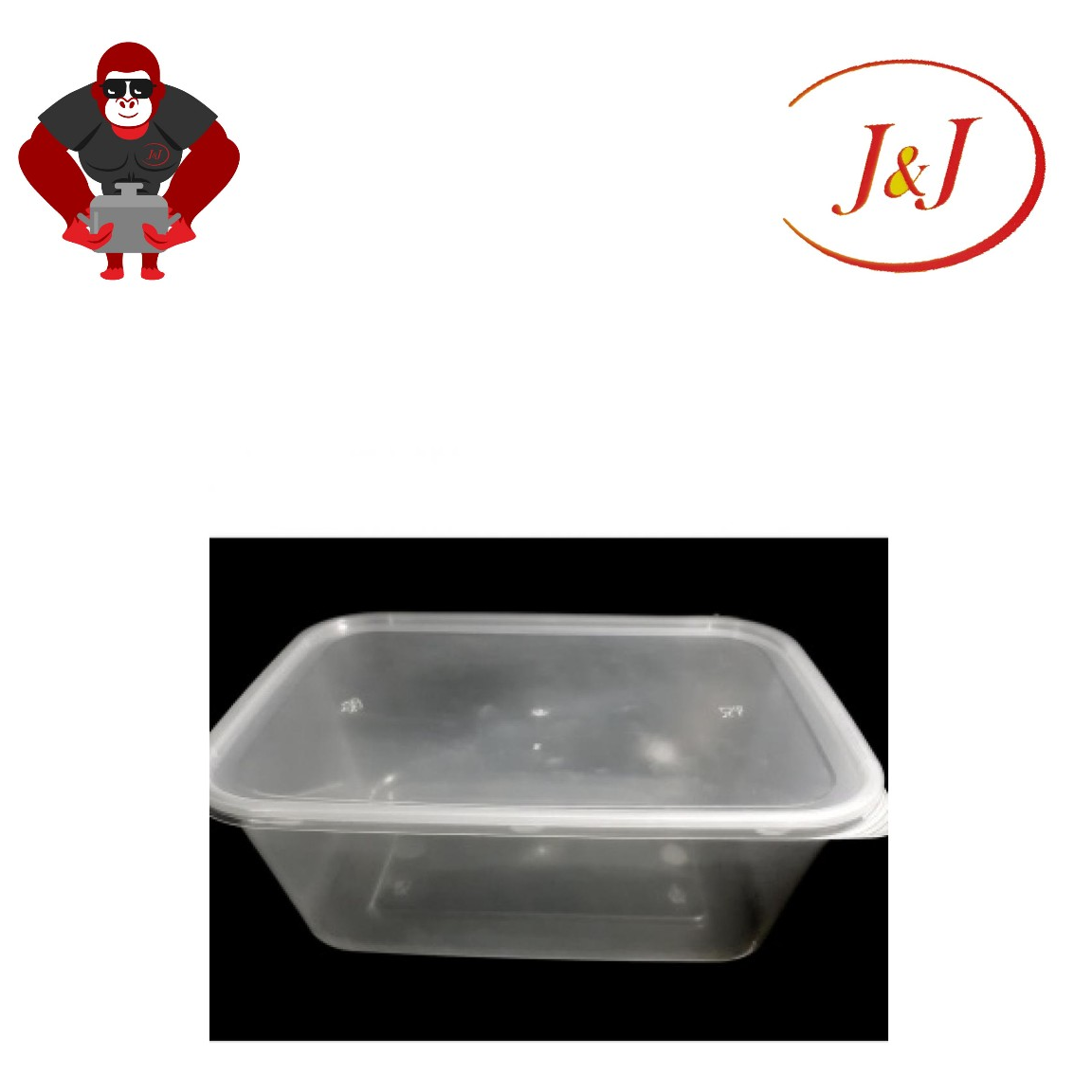 1 PKT - 50's T-1500 Rectangle Microwave Container, 1500ML