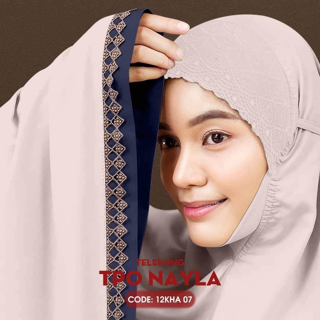 Telekung Cotton Nayla Collection - Free Woven Bag