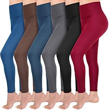 Women Skinny High Waist Full Fleece Lined-Seamless Leggings