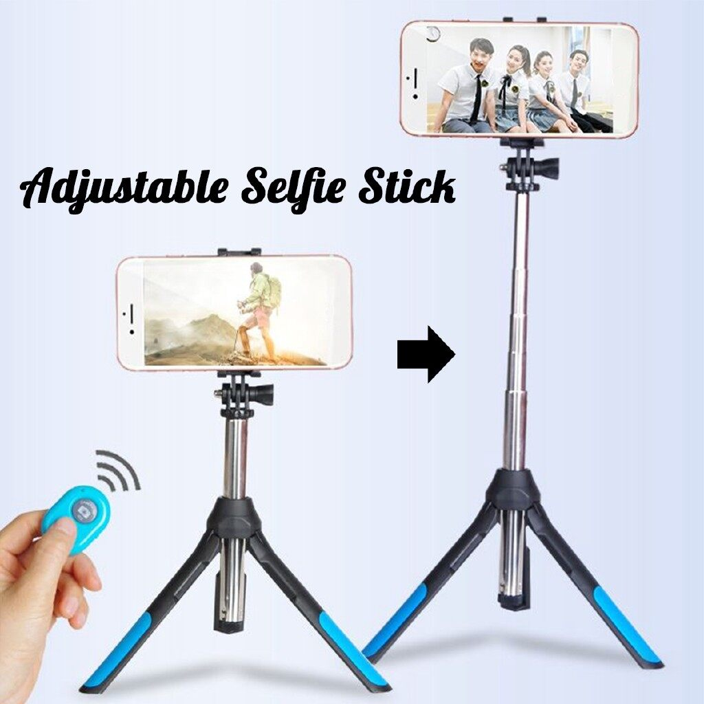 Phone Holder & Stand - Universal Phone Selfie Stick Tripod BLUETOOTH Remote WIRELESS For GoPro Camera - Cases Covers