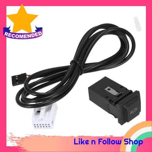KKmoon AUX In Socket Switch Plug Music Audio Interface for VW Passat B6 B7 CC Touran POLO Facelift RCD510+/310+ (Standard)