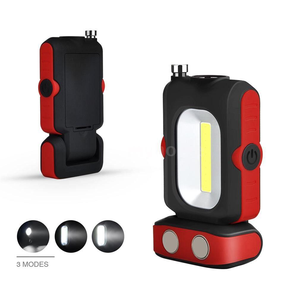 Lighting - PORTABLE LED Work Light Multi-use COB USB Flashlight Magnetic Base And Hanging Hook Powered by USB - Home & Living