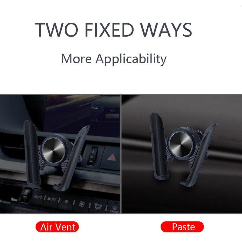 Car Holder 360 Rotation Air Vent Mount Car Holder Stand Universal Phone Holder - BLACK / BLUE / RED