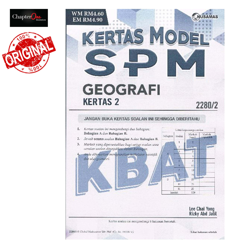 Kertas Model SPM Geografi Kertas 2