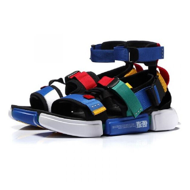 Li-Ning PFW Essence 2.0 Platform Men's Sports Sandals - Black/Blue AGBN079-3