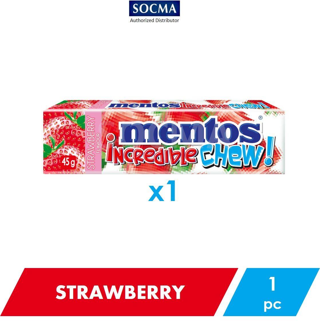 Mentos Incredible Chew Strawberry 45g [1]