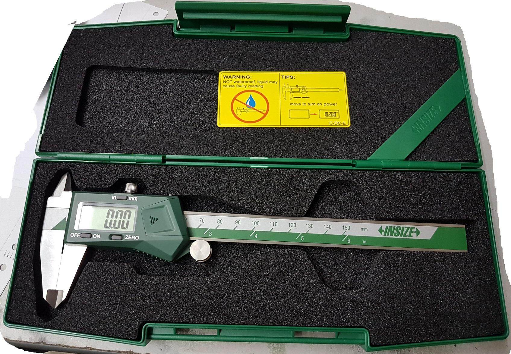 1108 150 insize digital electronic caliper measure tool hand ruler measuring unit stainless steel battery data output cable auto power off supply precision