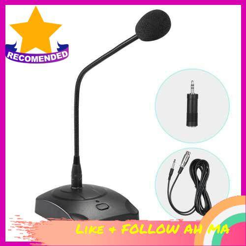 Best Selling Computer Microphone Professioinal Wired Desktop Conference Microphone Adjustable Neck for PC Laptop Speaker Mixer Conference Speech Recording Broadcasting Online Voice Chatting (Standard)