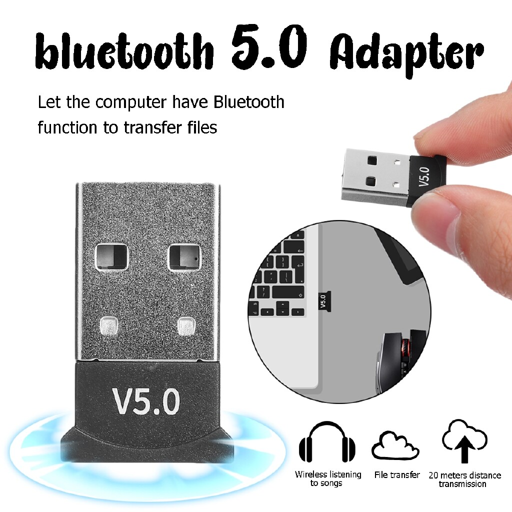Adapters & Converters - WIRELESS USB BLUETOOTH 5.0 Adapter Dongle Audio Receiver For Win 7 8 10 XP/Vista - Network Components