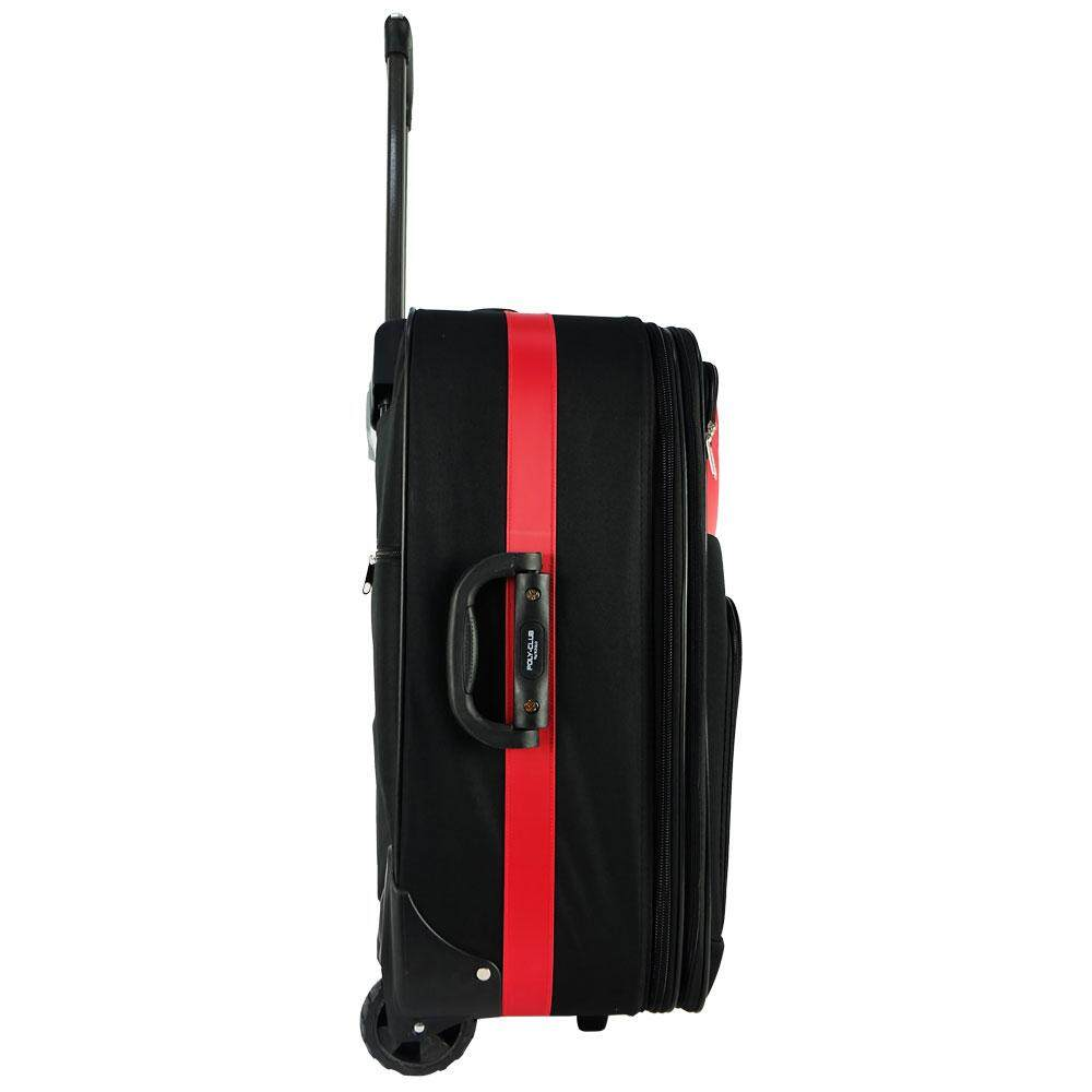 W.Polo BE9835 28inch 2W EVA Expendable Softcase Luggage- Black/Red
