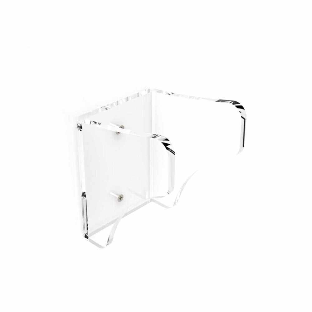 Muslady Wall Mounted Guitar Hanger Solid Acrylic Guitar Bracket Hanger Wall Hook Holder Stand for Acoustic Electric Guitar Bass Ukulele (Transparent)