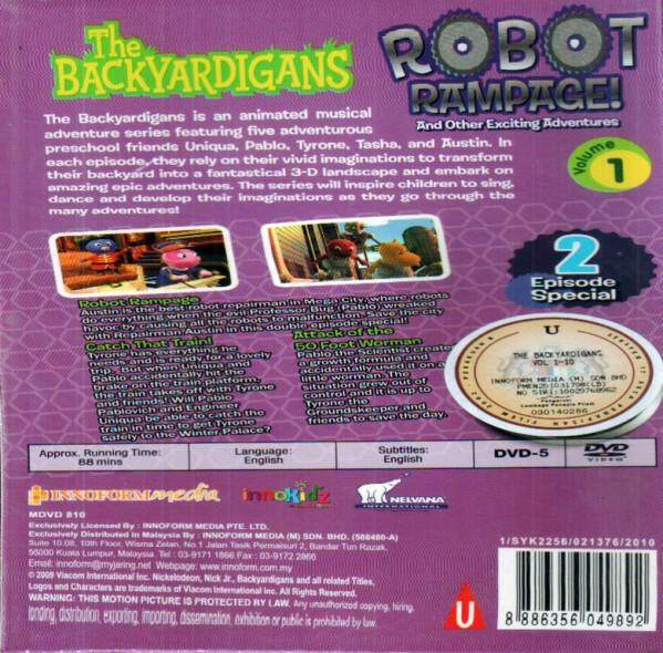 The Backyardigans Robot Rampage And Other Exciting Adventures Vol.1 DVD