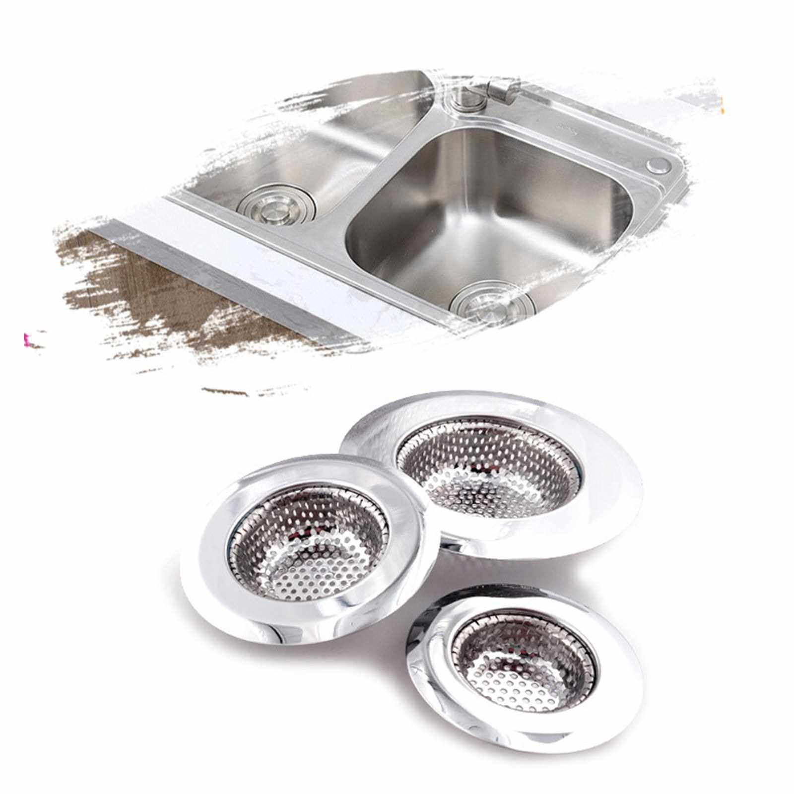 People's Choice Kitchen Sink Strainer Stainless Steel Drain Filter Strainer Large Wide Rim Basket Drain Strainer Food Catcher for the Kitchen Sink (S)