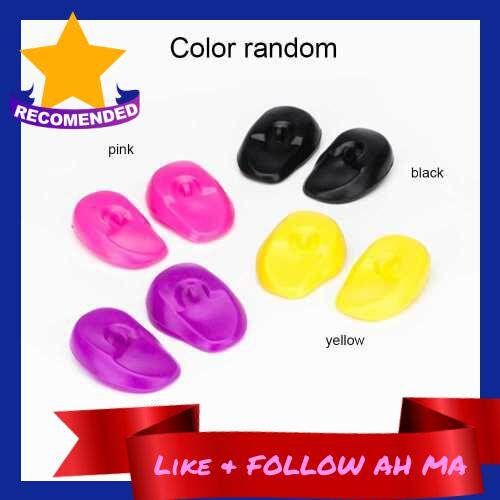 Best Selling 1 Pair Reusable Silicon Ear Protectors Salon Hairstyle Waterproof Ear Covers Random Color (Standard)