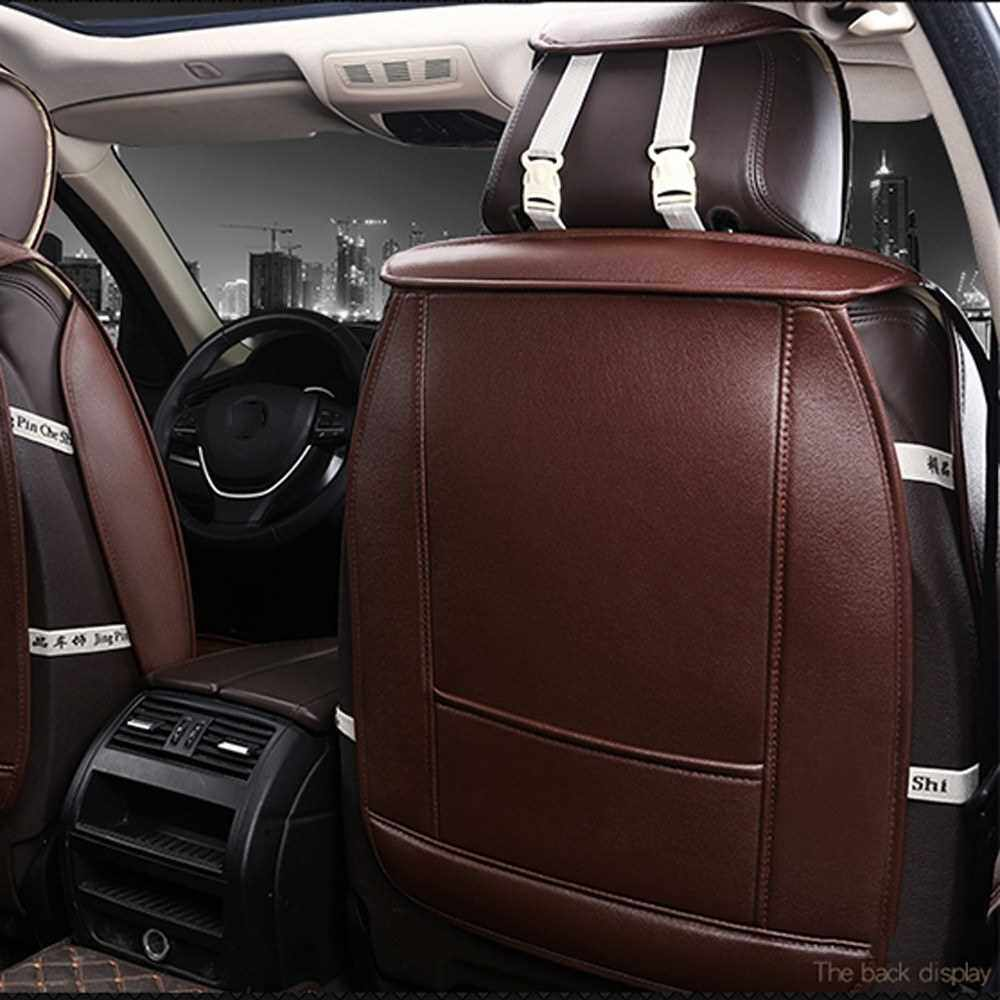 Best Selling 1pcs All Car Fashion Luxury PU Leather Support Pad Universal Car Seat Cushion Car Accessories (Coffee)