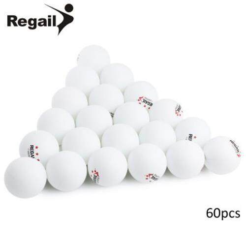 REGAIL 60PCS STAND 3-STAR 40MM PRACTICE TABLE TENNIS PING PONG BALL (WHITE)