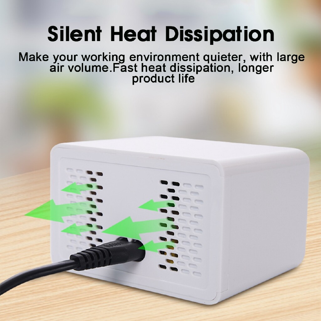 Chargers - 40W Smart 8-Port USB Adapter Desktop Phone Charging LCD Display Fast Charger - UK / AU
