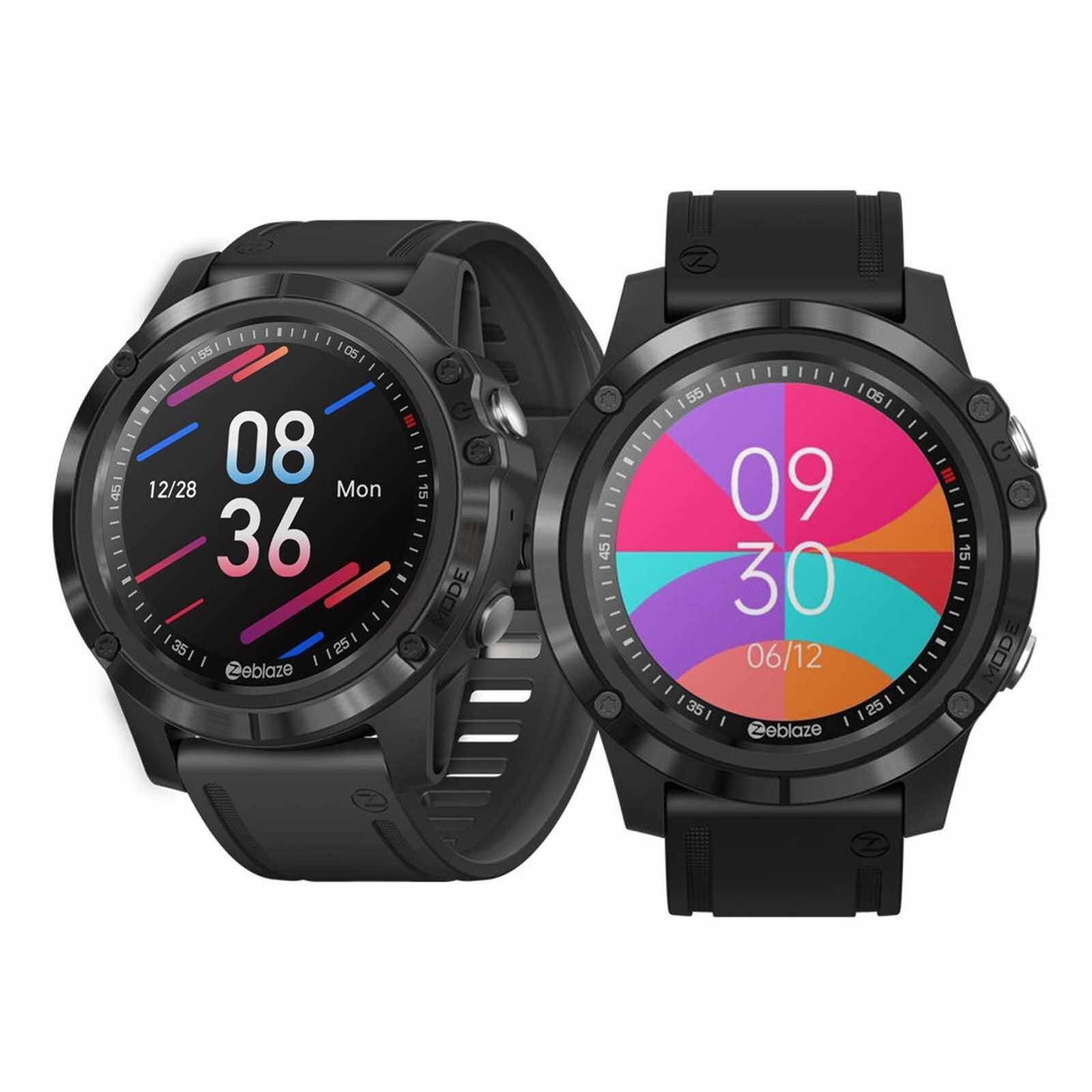 Zeblaze VIBE 3S HD Smart Watch 1.3-Inch TFT Screen 360*360 Resolution BT5.0 Fitness Tracker IP67 Waterproof Sleep/Heart Rate/Blood Pressure Monitor Multiple Sports Mode Message/Call/Sedentary Reminder Remote Camera Compatible with Android iOS (Black)