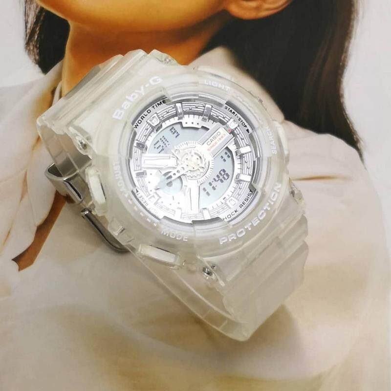 {14 DAYS MONEY BACK GURRENTY} BABY_BGA-110 Full Set Dual Time Display Resin Women\'s Watch Dual New Fashion & Affordable Price