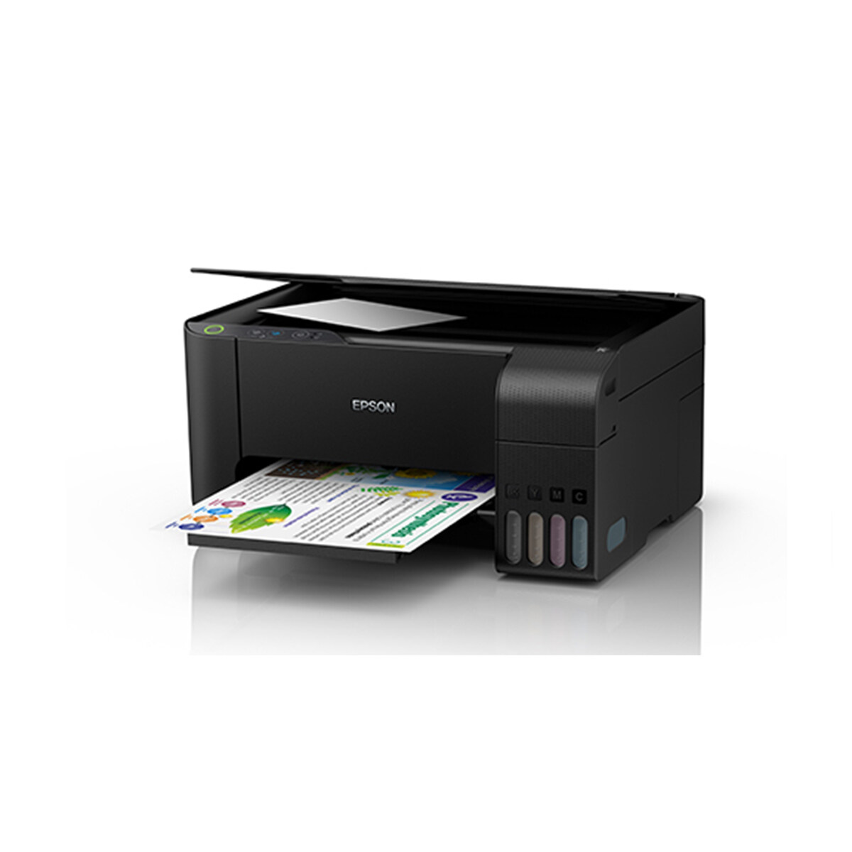 EPSON ECOTANK L3110/L3116 3 IN 1 PRINT SCAN COPY REFILLABLE INK TANK PRINTER, ALL IN ONE MULTI FUNCTION COLOUR PRINTER, ANTI UV INK, WITH 1 SET ORIGINAL INK (BLACK/CYAN/MAGENTA/YELLOW) 3 YEARS WARRANTY EPSON PRINTER L3110 L3116