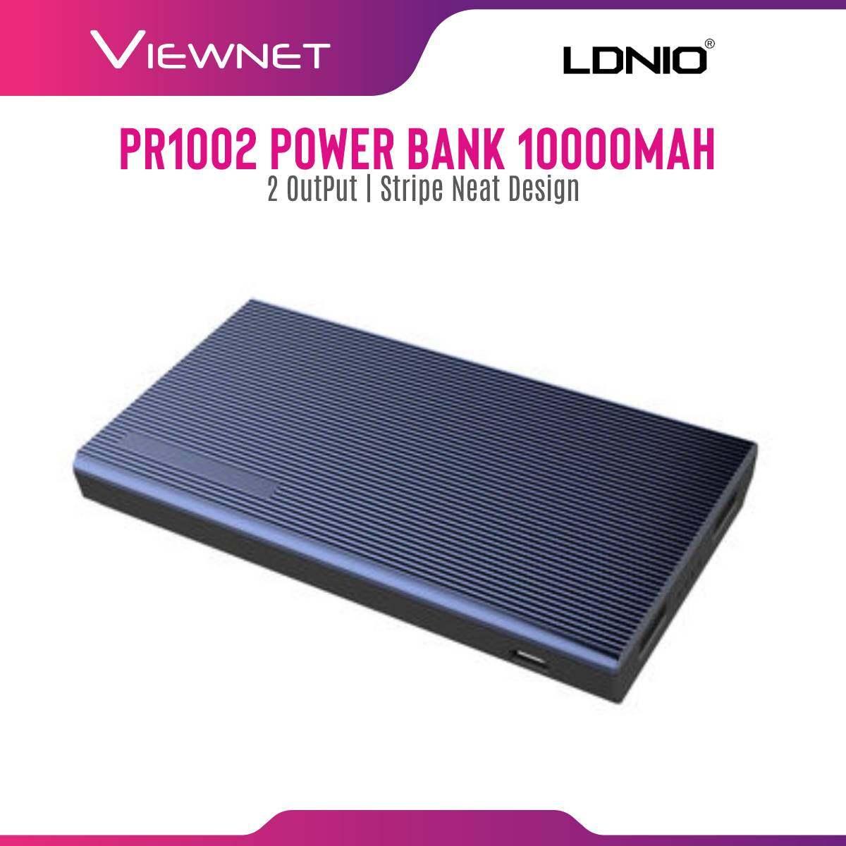 Ldnio 10000MAH Power Bank 2-OUT 2.1A (PR1002) DC5V / 2.1A, Input Micro USB, Output 2 USB-A Ports, Blue
