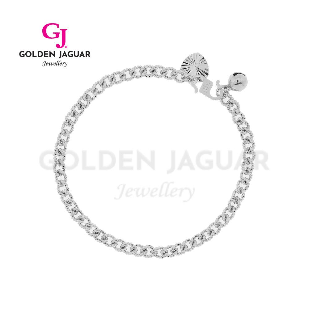[Combo Set] GJ Jewellery Emas Korea Simple Love Papan Pasir Kikir Necklace + Papan Bracelet - Combo Rantai Gelang Tangan Set 24K Platinum Plated