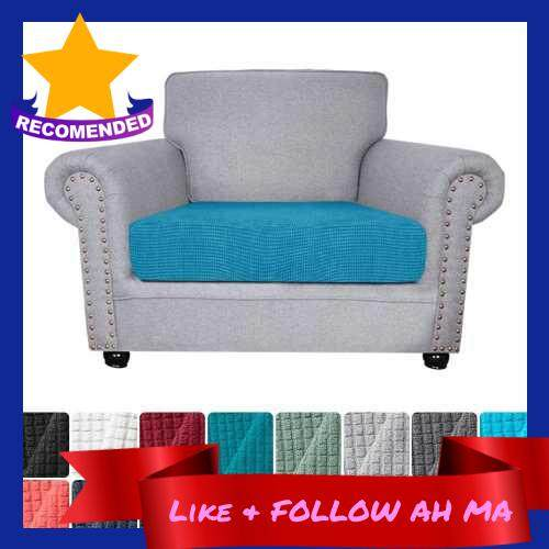 Best Selling Sofa Seat Slipcovers Couch Cushion Covers 1 Seater Stretch Spandex Non Skid Jacquard Fabric Furniture Protector Washable (Sky Blue) (Sky Blue)