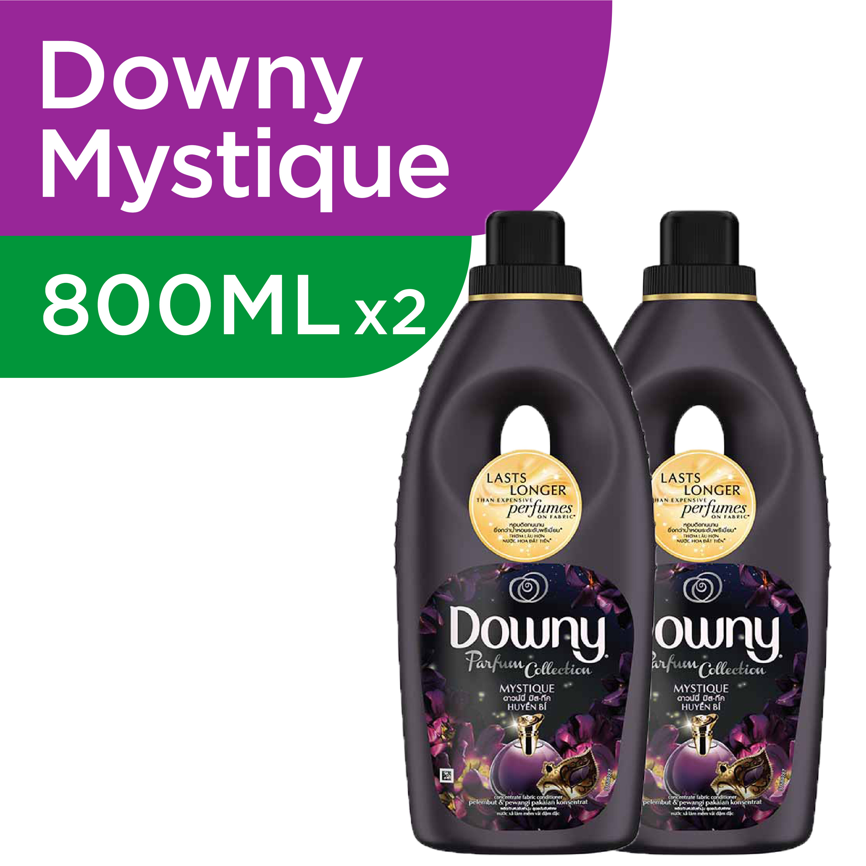 Downy MYSTIQUE Parfum Collection Concentrate Fabric Conditioner 800ml [BUNDLE OF 2]